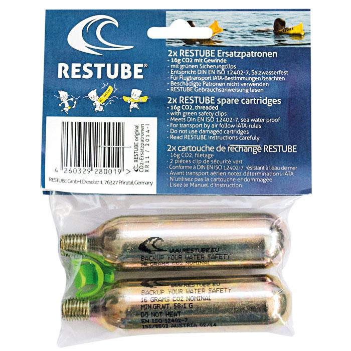 画像1: RESTUBE(レスチューブ)専用スペアCO2カートリッジセット(2本入り) (1)